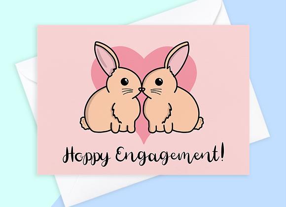Rabbit Engagement Card