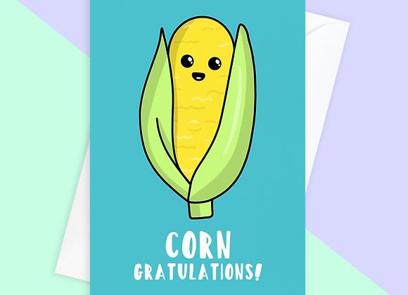 Corn Congratulations Card
