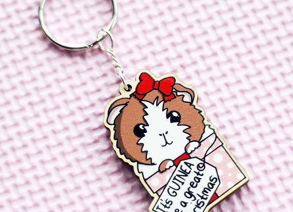 Guinea Pig Key Ring, Guinea Pig Christmas Key Chain