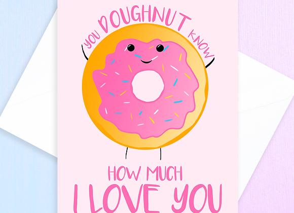 Doughnut Anniversary Card