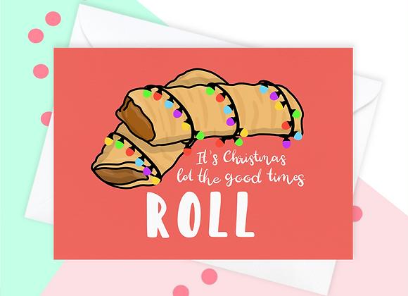 Sausage Roll Christmas Card