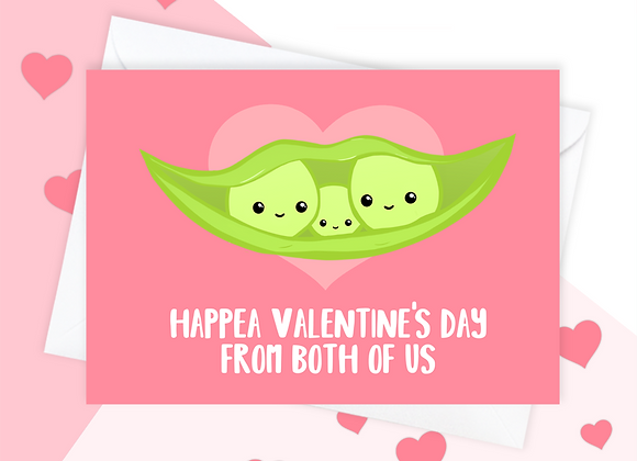 peas in pod mothers day card, mothers day card from both of us