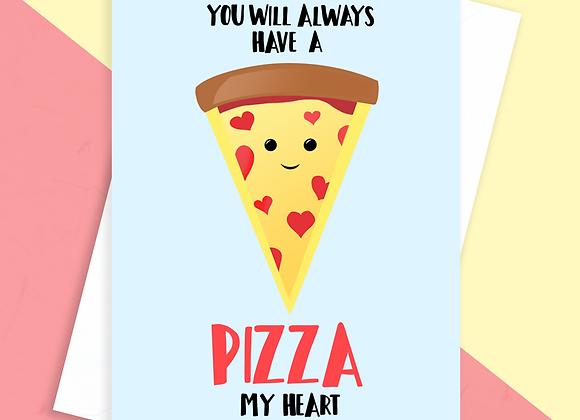 Pizza Anniversary Card