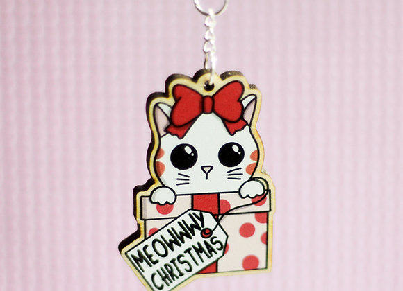 Christmas Cat Keyring
