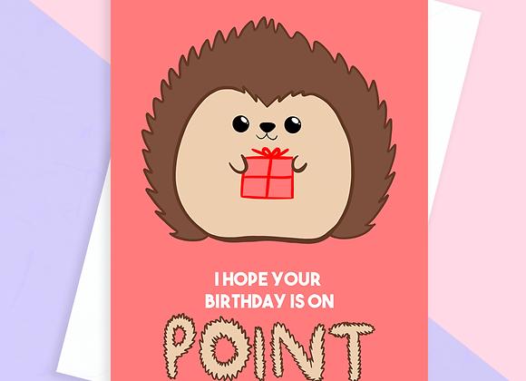 hedgehog birthday card, birthday card for hedgehog lover