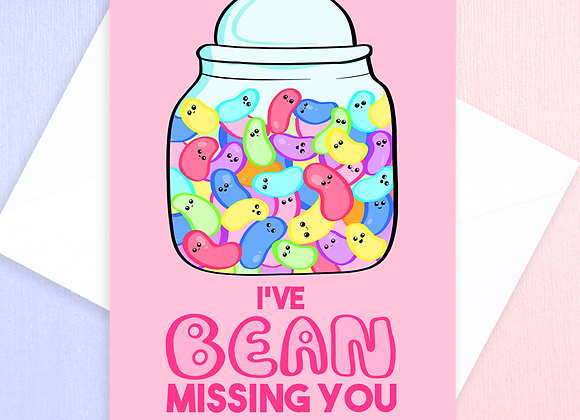 Jelly Bean Miss You Card