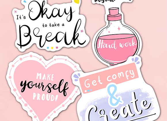 motivational quotes stickers, motivational creativity quotes stickers, okay to take a break sticker