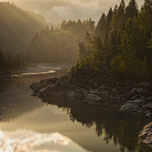 """1 - Middle Fork """"Old Foot Bridge"""" West Glacier"""