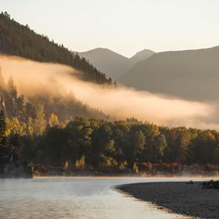 12 - Sunrise on the Flathead River fall