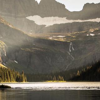 7 - Grinnell Glacier Area GNP (Salamander Glacier above Grinnell Falls)