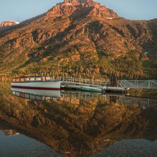 18 - Sunrise Two Medicine Lake (Sinopah Boat)