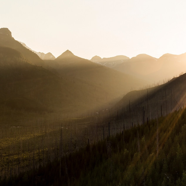 10 - Sunset on Logan Pass GNP