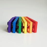 Equality depicted using different coloured lego bricks