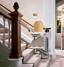 Brooks Stairlift with Hinged Rail