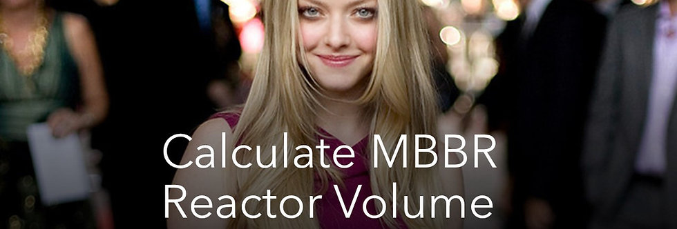 MBBR Volume Calculation in Excel Format for STP ETP MBBR Reactor calculator file