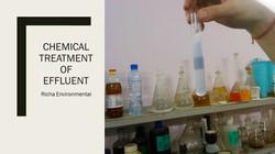 Chemical Treatment of Effluent