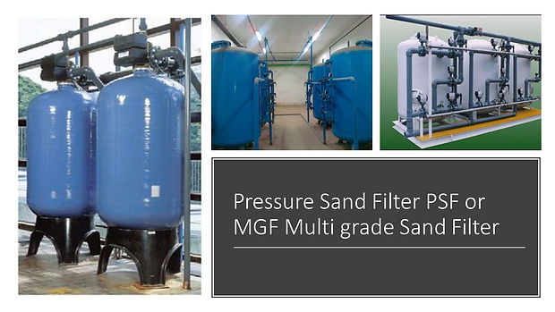 Pressure Sand Filter PSF or MGF Multi gr