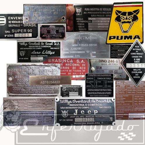 Plaquetas de Identificação