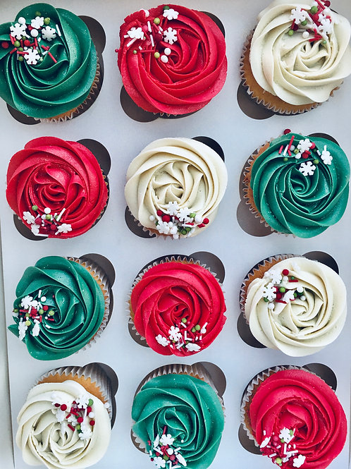 Classic Christmas Cupcake (pre order for collection)