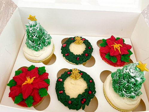 Premium Christmas cupcakes (pre order for collection)
