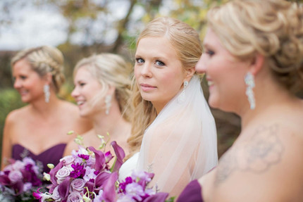 Bride's makeup and bridesmaids' hair by me. Bridesmaids' makeup by Melissa Blayton's Pro Artistry Team, Kansas City, MO. Photo credit unknown