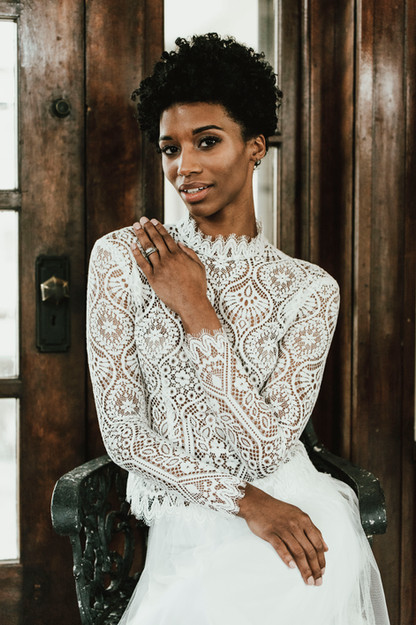 Makeup by me. Photography by Juliana Noelle Jumper. Hair by Geena Mericle. Gown by Kathryn Lee Bridal. Model Ciara Barton.