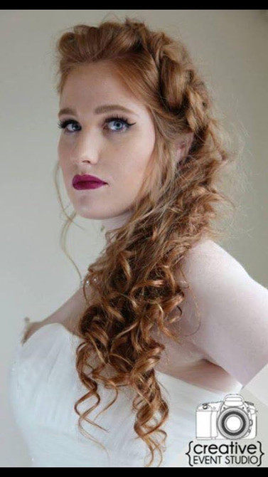 Hair by me. Makeup by Melissa Blayton's Pro Artistry Team, Kansas City, MO. Photo by Creative Event Studio