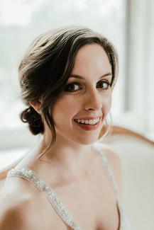Makeup by me. Photography by Juliana Noelle Jumper. Hair by Geena Mericle. Gown by Kathryn Lee Bridal. Model: Sara Luttman.