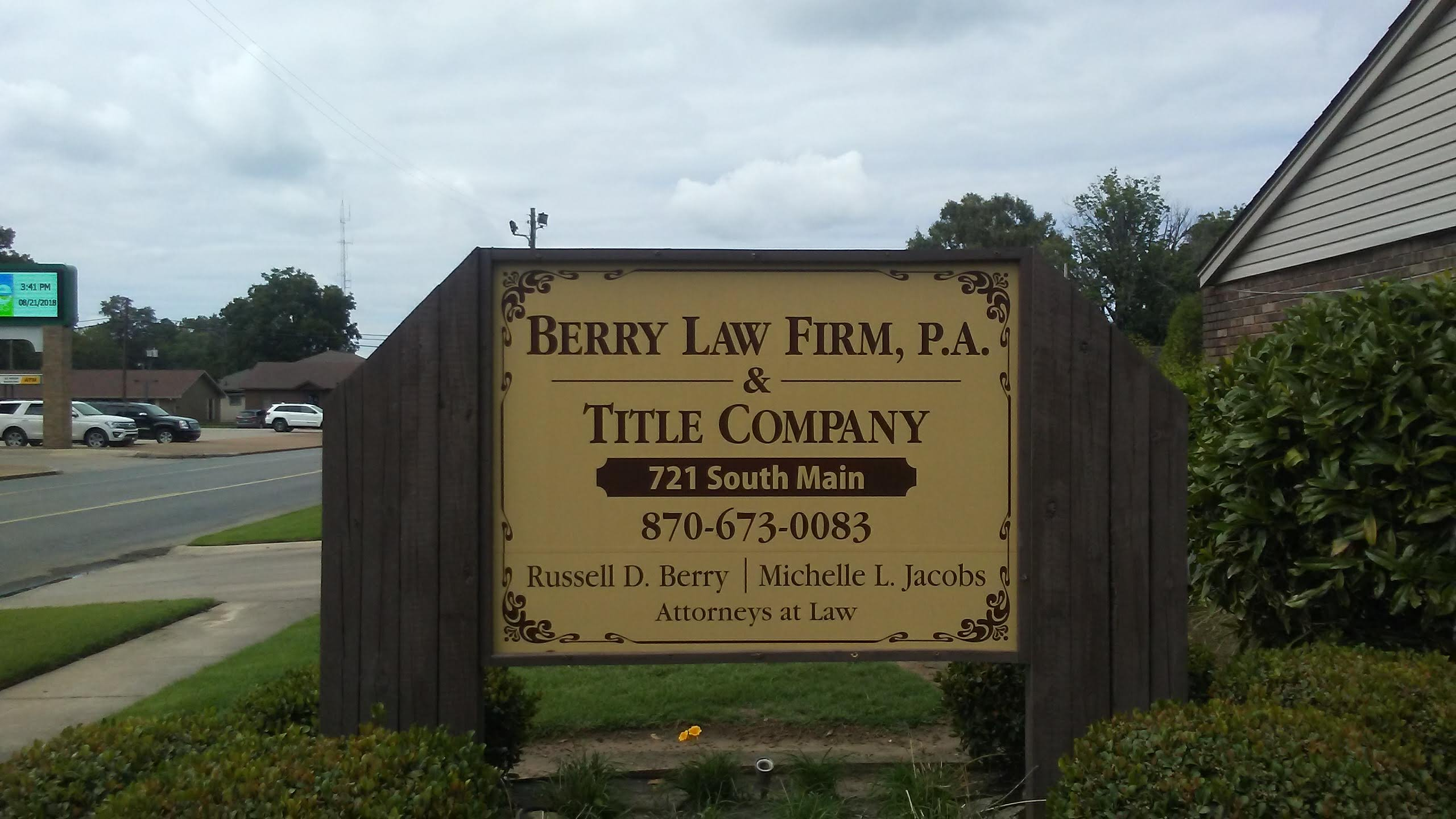Law Firm Monument Sign (Before)