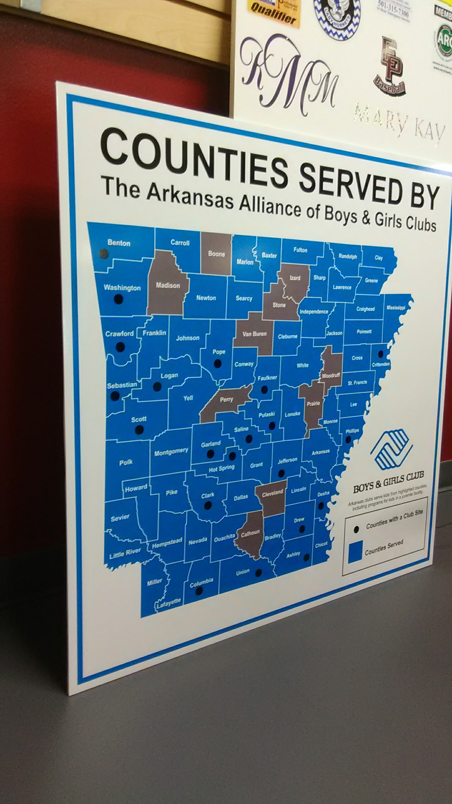 Boys & Girls Club Counties Served