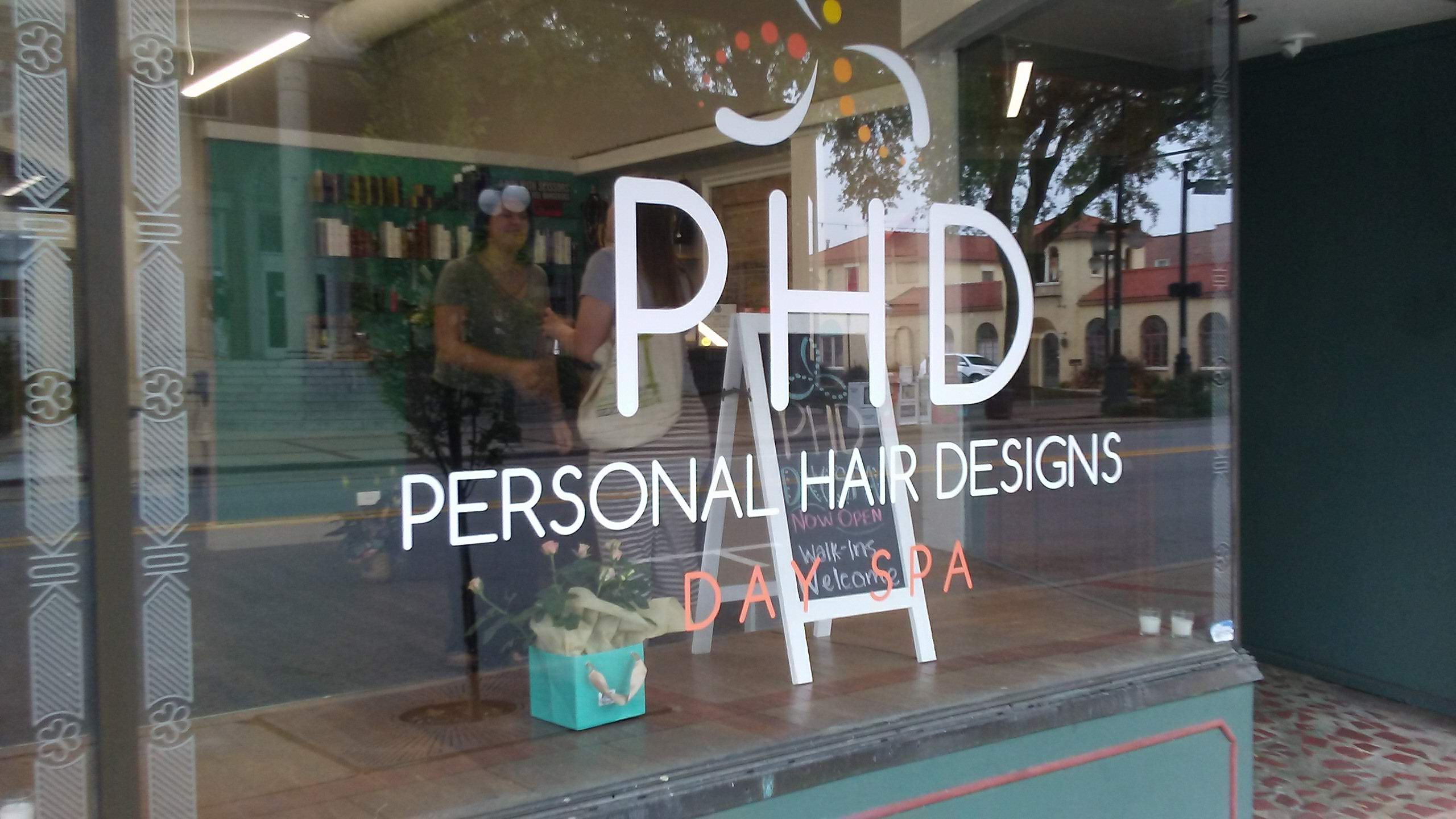 Personal Hair Design Window Graphics