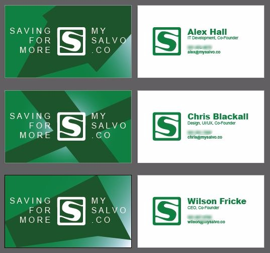 Salvo Business Cards