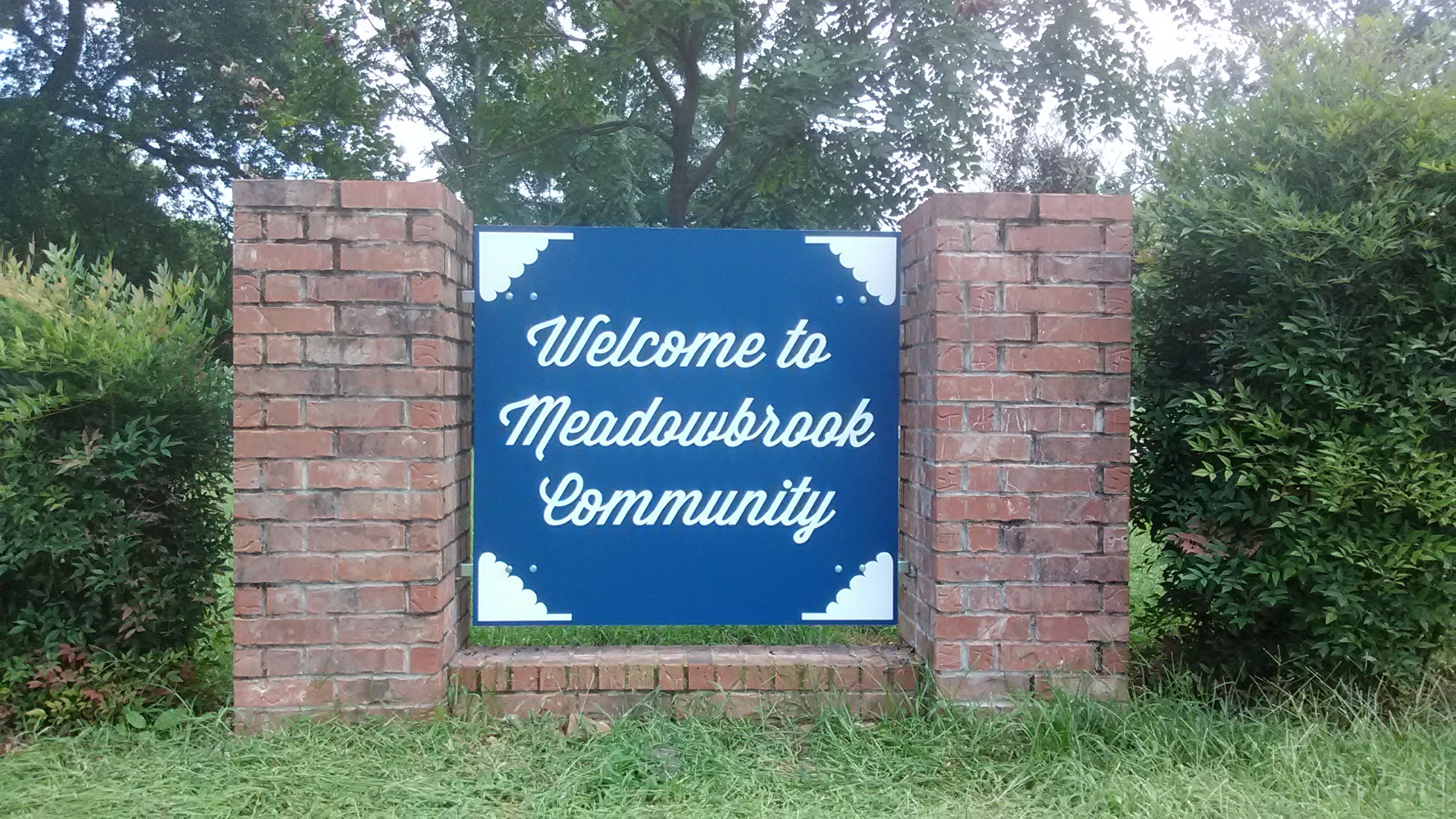 Meadowbrook Community Entrance