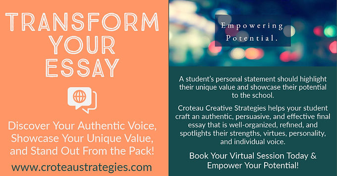 Croteau Creative Strategies College Essa