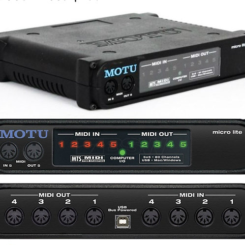 Motu - Micro Lite 5x5 MIDI USB interface