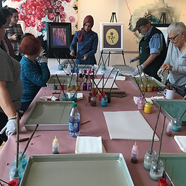 Ebru Art workshop in Chicago