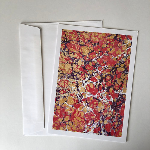 Ebru Art Greeting Card -Stones