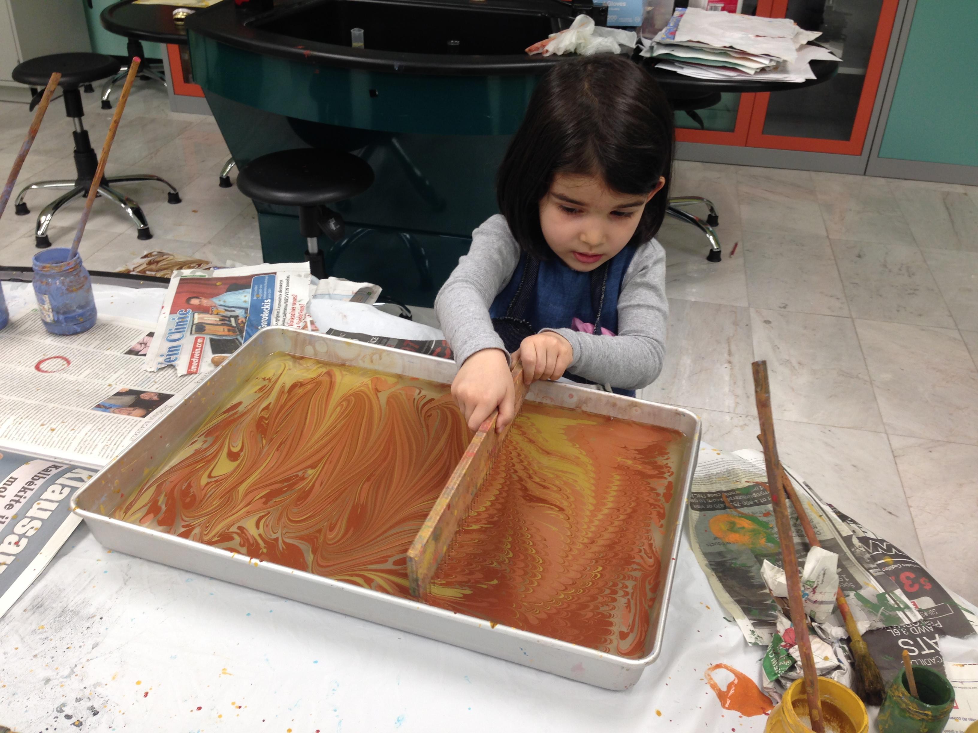 kids love ebru art