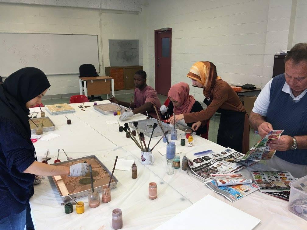 teaching ebru art