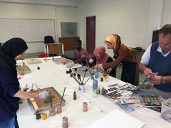 teaching ebru art