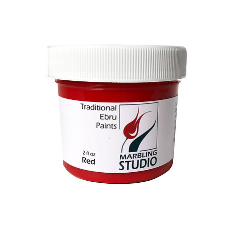 Traditional Ebru Paint -Red