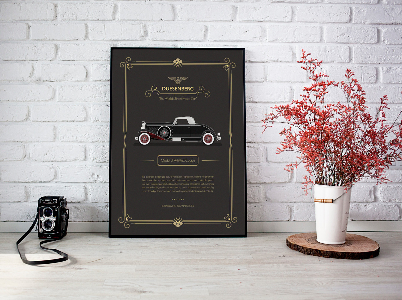Framed 1931 Duesenberg - Whittell Coupe