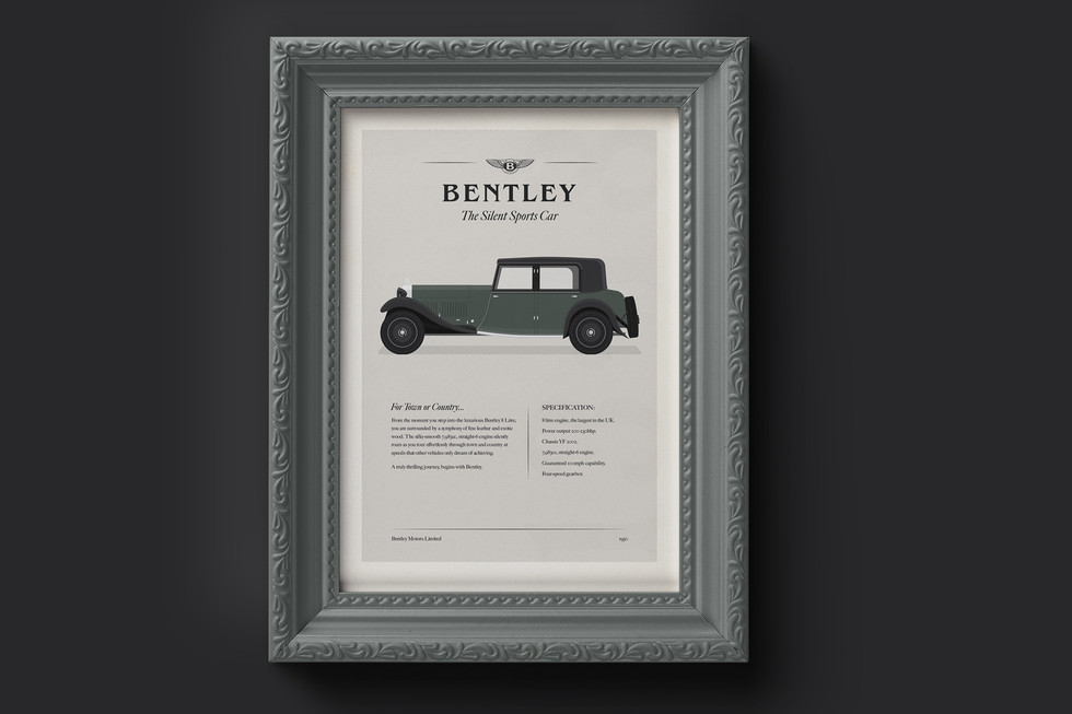 1930's Bentley 8 Litre Classic Car