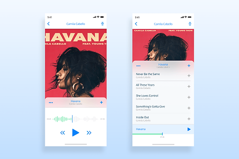 Music App - User Interface Deign