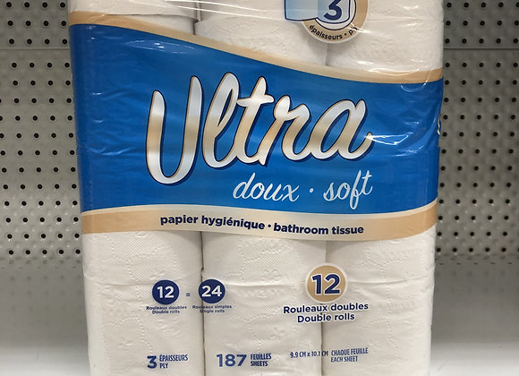 Papier hygiénique essentiel 12 rouleaux 3 épaisseurs