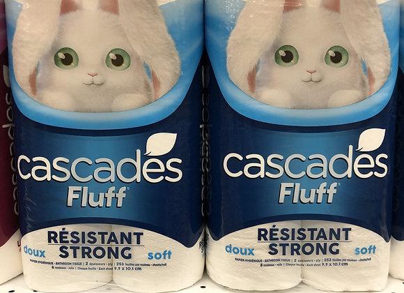 Cascades Fluff résistant papier hygiénique 8 rouleaux doubles