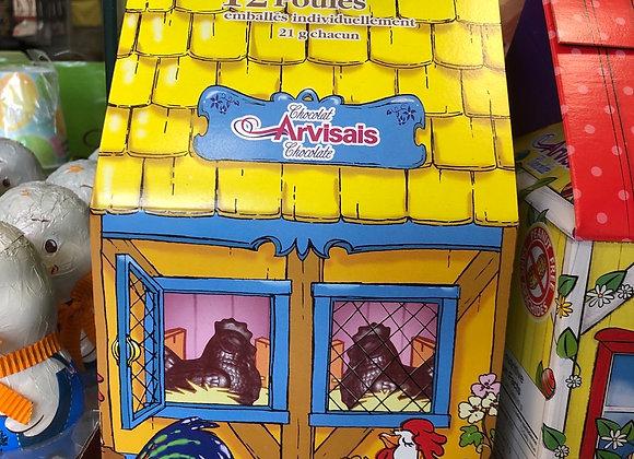 12 poules en chocolat 21g