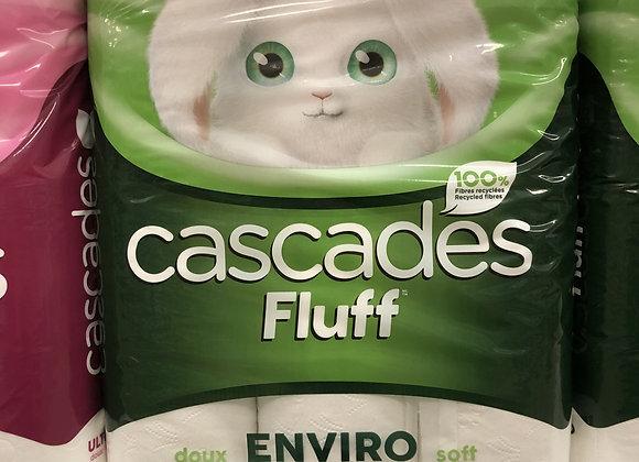Cascades Fluff enviro papier hygiénique 12 rouleaux 2 épaisseurs