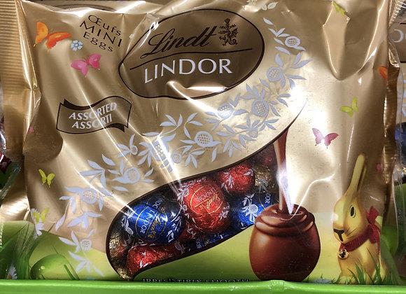 Oeufs en chocolat Lindt assortis 300g emballés individuellement