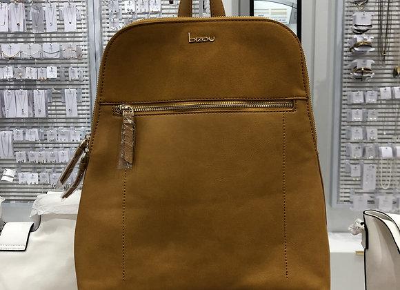 BIZOU - sac à dos trapèze couleur ocre